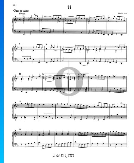 Suite D Minor, HWV 448: 1. Ouverture Sheet Music