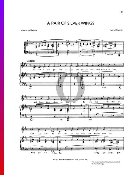 A Pair Of Silver Wings Sheet Music