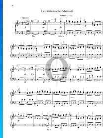 Canción del marinero italiano, Op. 68 n.º 36