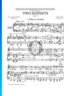 Two Sonnets, Op. 12
