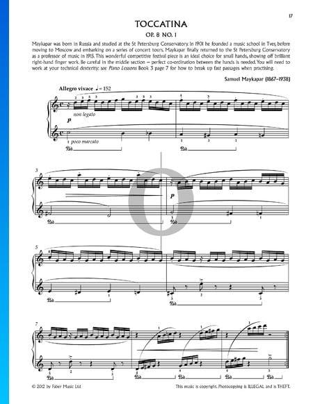 Toccatina, Op. 8, Nr. 1 Musik-Noten