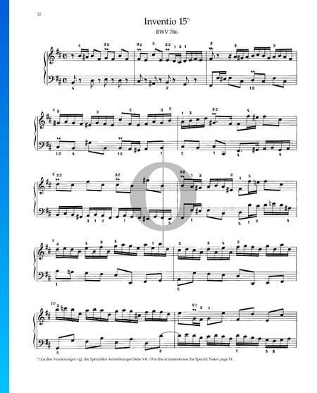 Invention 15, BWV 786 Sheet Music