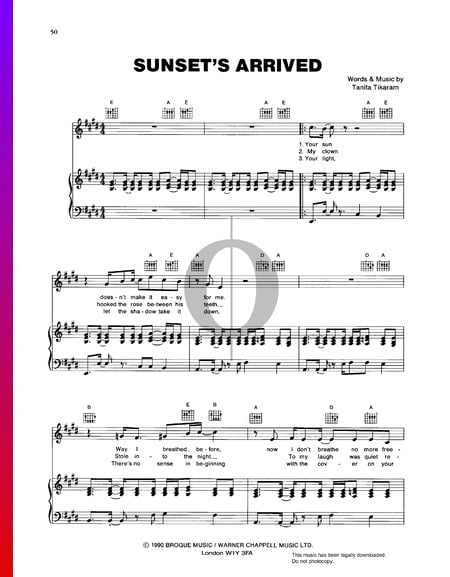 Sunset's Arrived Sheet Music
