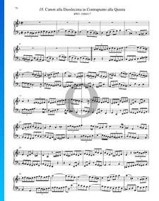 Canon alla Duodecima in Contrapunto alla Quinta, BWV 1080/17