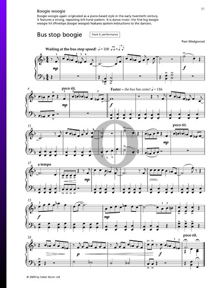 Bus Stop Boogie Sheet Music Piano Solo Pdf Download