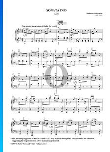 Sonate en Ré Majeur, K430