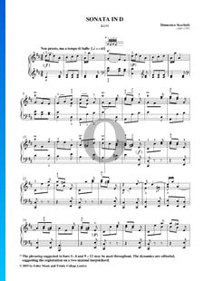Sonate in D-Dur, K430