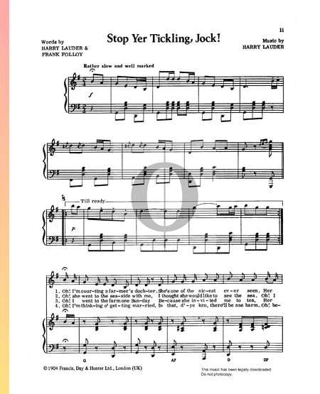 Stop Yer Tickling, Jock! Sheet Music