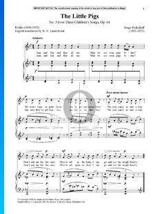 Drei Kinderlieder, Op. 68: Nr. 3 Die Ferkelchen