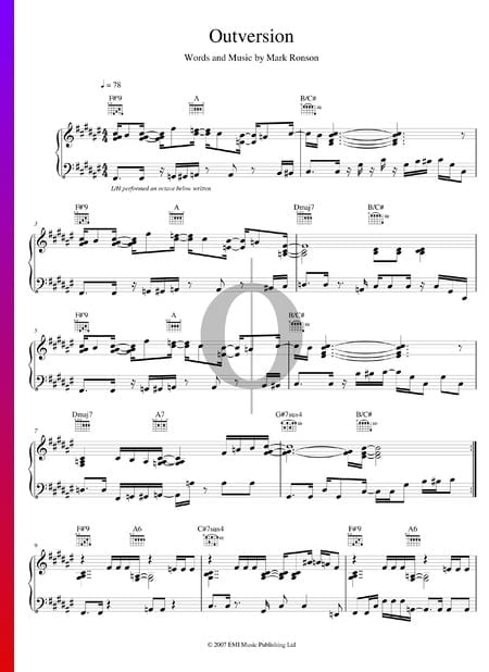 Outversion Sheet Music