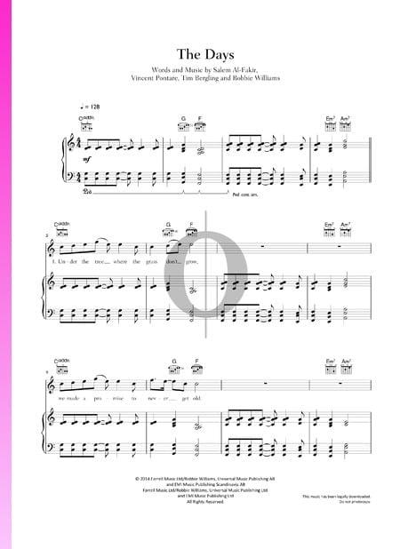 The Days Musik-Noten
