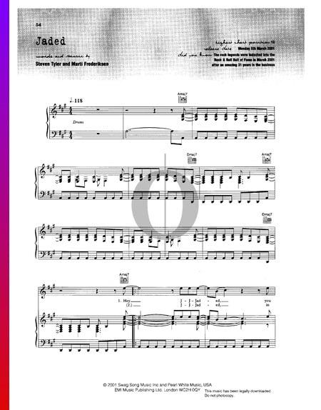 Jaded Sheet Music