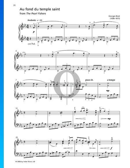 Au Fond Du Temple Saint Sheet Music