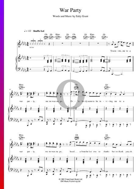 War Party Musik-Noten