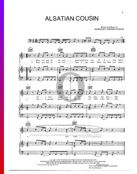 Alsatian Cousin Sheet Music