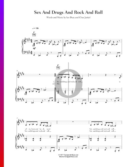 Sex And Drugs And Rock And Roll Sheet Music