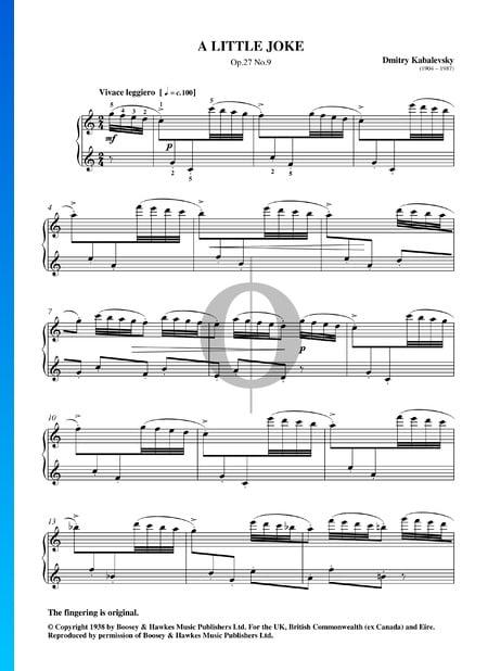 Une Petite Plaisanterie, Op. 27 No. 9 Partition