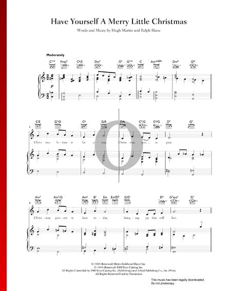 Have Yourself A Merry Little Christmas Partitura