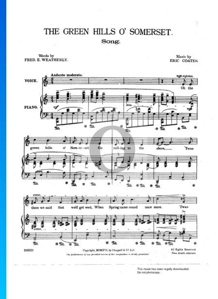 The Green Hills O'Somerset Sheet Music