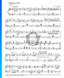 Scherzo en Si bémol Majeur, D 593/1