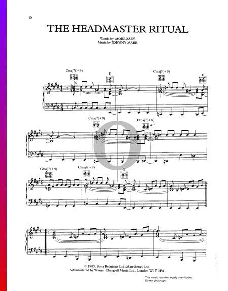 The Headmaster Ritual Musik-Noten