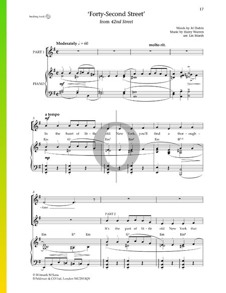Forty-Second Street Sheet Music