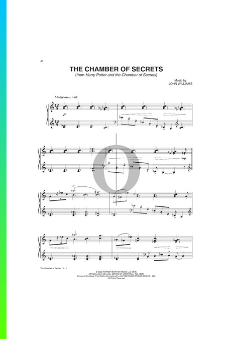 The Chamber Secrets Partitura
