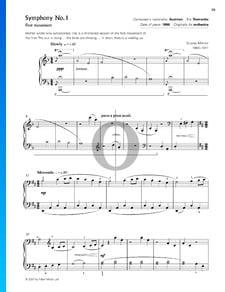 Sinfonía n.º 1 en re mayor: 1.er movimiento