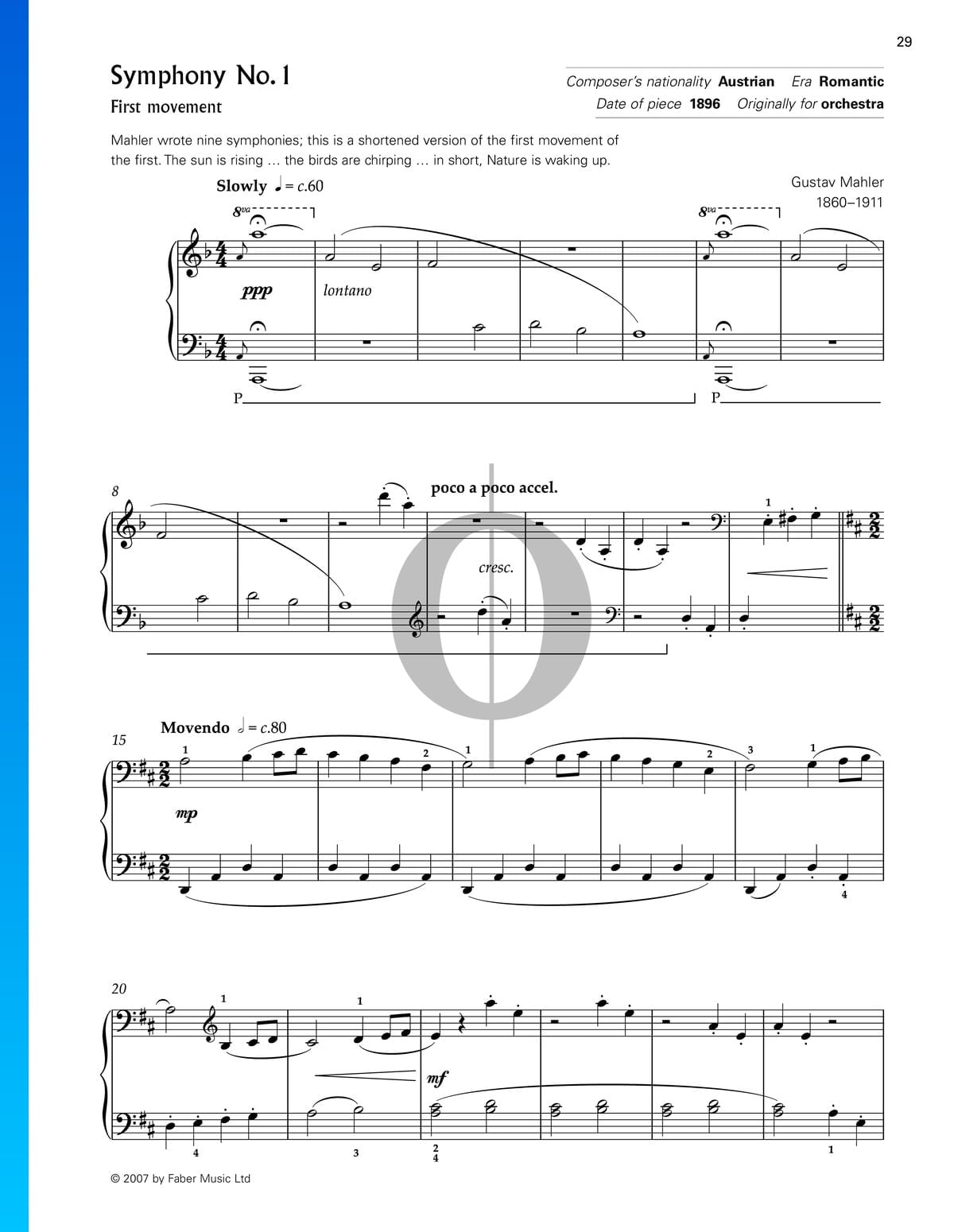▷ Symphony No  1 in D Major: 1st Movement Sheet Music