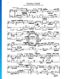 Partita en Mi mineur, BWV 1002: 1. Allemanda