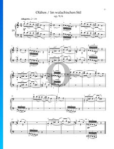 Seven Sketches, Sz. 44 (Op. 9): No. 6 In Wallachian Style