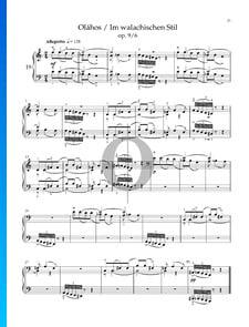 Sieben Skizzen, Sz. 44 (Op. 9): Nr. 6 Im walachischen Stil