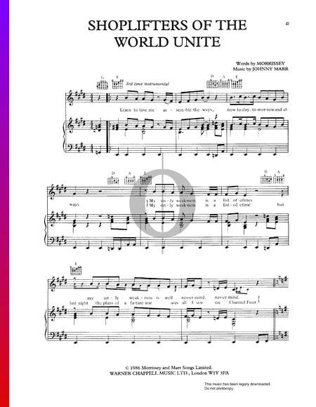 Shoplifters Of The World Unite Musik-Noten