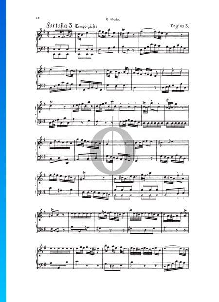 Fantasia, Douzaine III No.3: Tempo giusto, TWV 33:27 Sheet Music