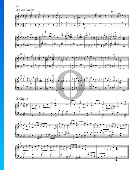 Suite No. 7 G Minor, HWV 432: 5. Gigue Sheet Music
