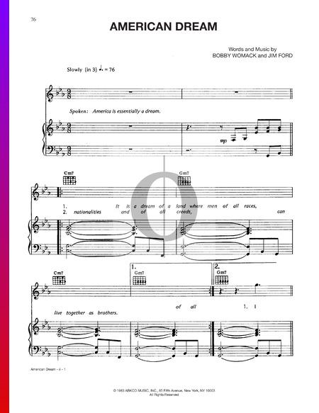 American Dream Musik-Noten