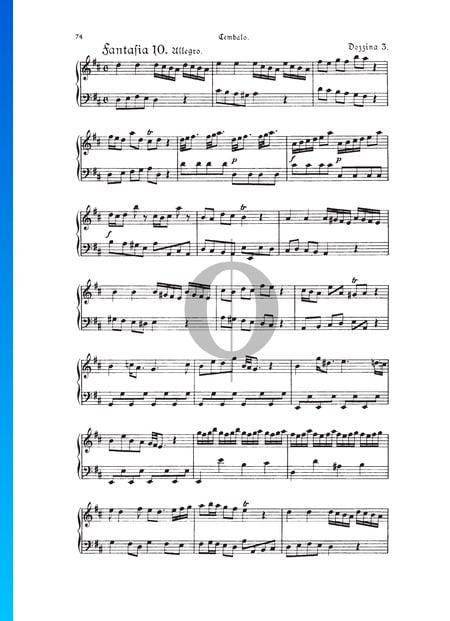 Fantasia, Douzaine III No.10: Allegro, TWV 33:34 Sheet Music