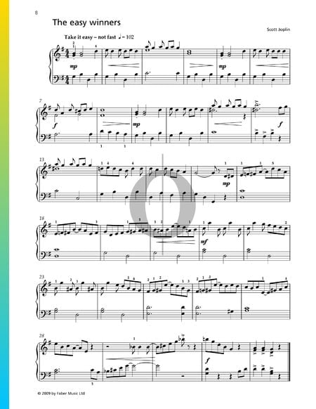 The Easy Winners Sheet Music