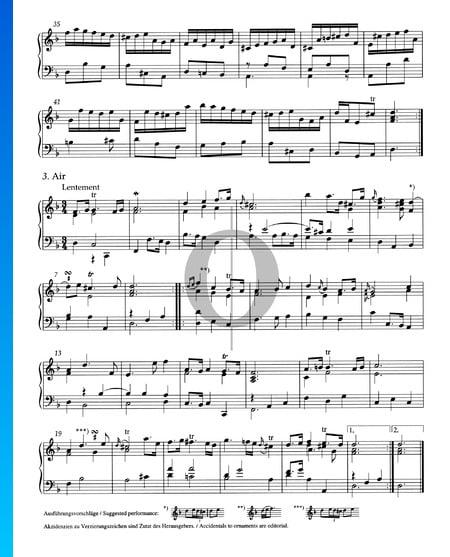 Suite d-Moll, HWV 436: 3. Air Musik-Noten