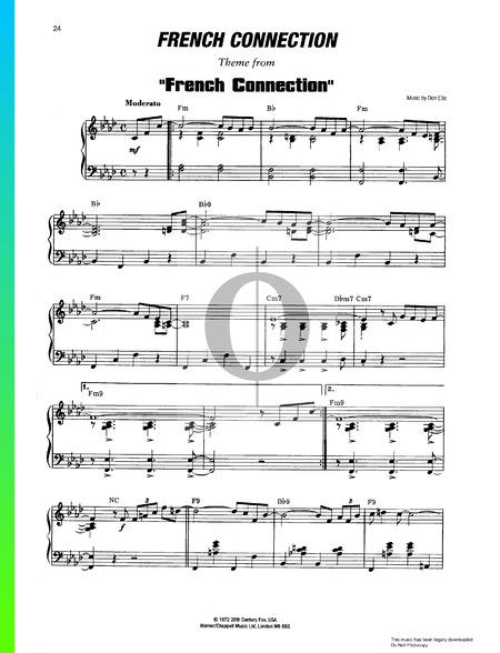 French Connection Theme Musik-Noten