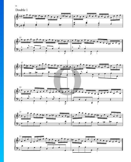 Suite No. 3 D Minor, HWV 428: 6. Double 1 Sheet Music