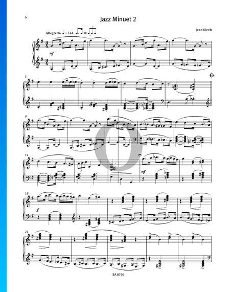 Jazz Minuet 2 Musik-Noten