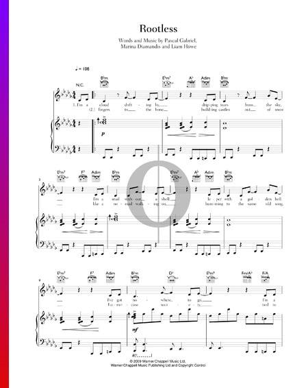 Rootless Musik-Noten