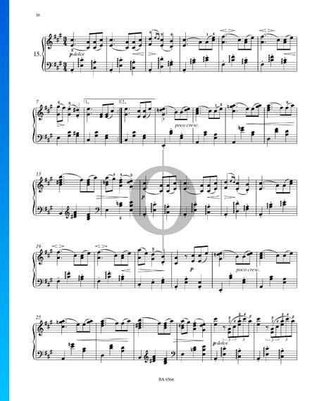 Sixteen Waltzes, Op. 39 No. 15 Sheet Music