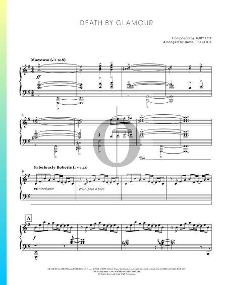 Death by Glamour Musik-Noten