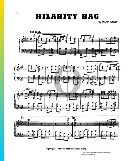 Hilarity Rag Musik-Noten