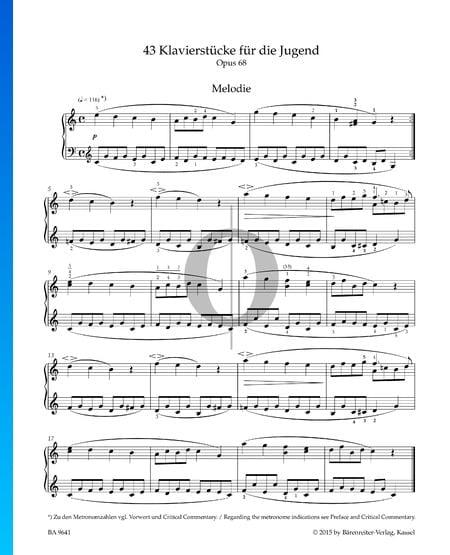 Melodía, Op. 68 n.º 1 Partitura