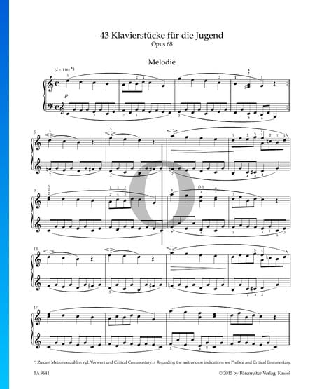 Melody, Op. 68 No. 1 Sheet Music