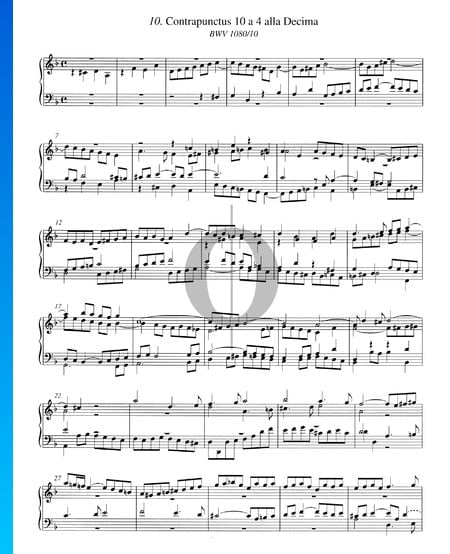Contrapunctus 10, BWV 1080/10 Partition