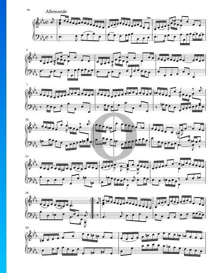 Suite in E-flat Major, BWV 1010: 2. Allemande Sheet Music